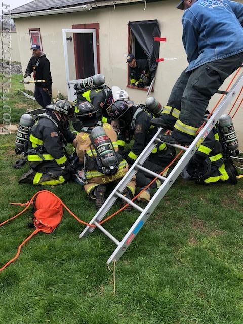 Downed firefighter CPR